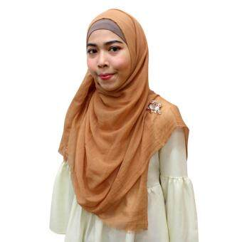 Harga TYON Light Weight Soft Touch Color Shawl TYTJ033 Brown
