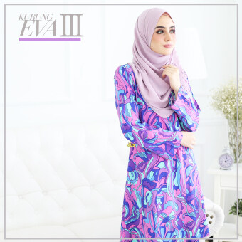Harga NURSING FRIENDLY KURUNG EVA VA027(BLUE PURPLE)