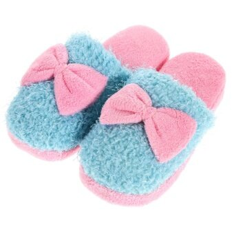 Harga WomenGir' Indooroft Furry ipper hoe Anti-ip Cute 38-39 Bue