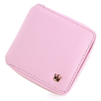 Harga Women Lady Crown Purse Leather Short Wallet Clutch Card Holder Handbag Coin Bag Pink New