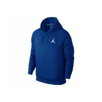 Harga Nike Mens Jordan Jumpman Brushed Pull Over Hoodie Game Royal/White
