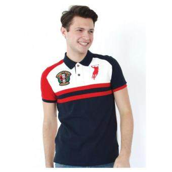 Harga Polo Haus - Polo Collar Knit Wear with Wording (Dark Blue)