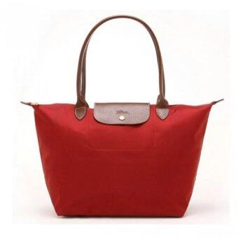 Harga Longchamp Le Pliage Long Handle Medium (Red)