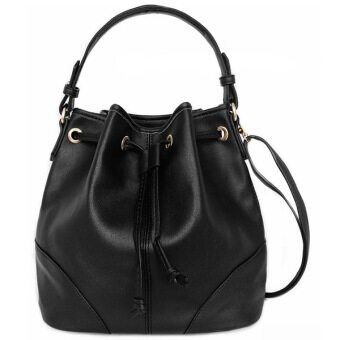 Harga Mango TSAR Sylish Leather Sling Bag Black