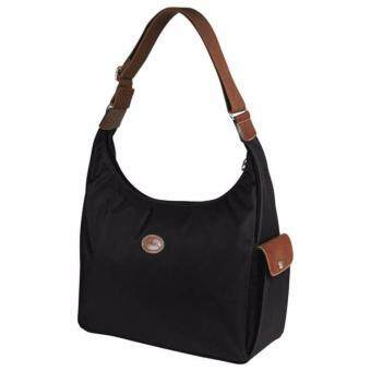 Harga LONGCHAMP LE PLIAGE HOBO - BLACK