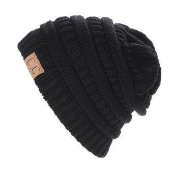 Harga Winter Bubbe Knit Baggy Beanie Overize Hat ki ouchy Cap (Back)