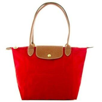 Harga AUTHENTIC LONGCHAMP LE PLIAGE TOTE 2605089 SMALL/LONG HANDLE (ROUGE)