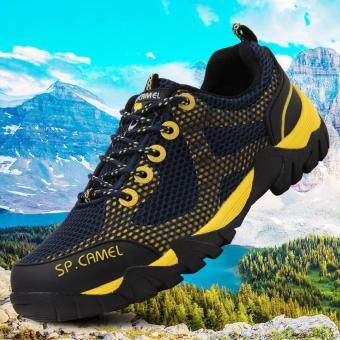 Harga 9doo Mens Woman Waterproof Outdoor Hiking Climbing Rubber Sneakers Hiker Athletic Sports Shoes