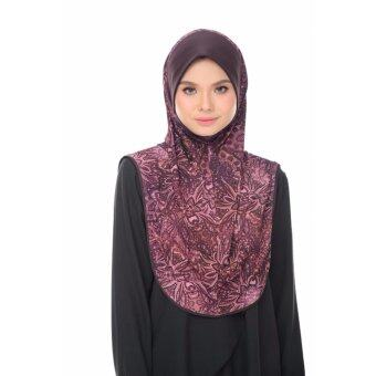Harga Aisya Printed Express Hijab (L) with Chocolate Awning
