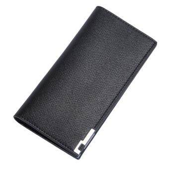 Harga UINN Long Slim Men Wallet 3 Colors Long Design Multifunctional PU Leather Purses Black