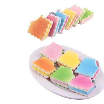 Harga Candy Color Soft Biscuits Eat Me Squishy Kawaii Cell phone Charms Straps