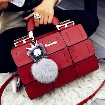 Harga suture Boston bag inclined shoulder ladies hand bag women PU leather handbag sac 2017 woman bags handbags women famous brands