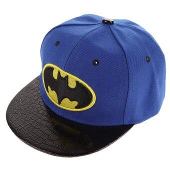 Harga Hip-Hop SnapBack Batman Baseball Cap Children Sports Hats(Blue)