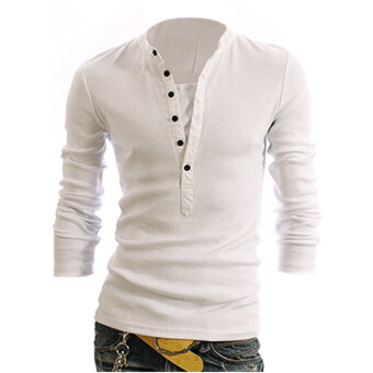 Harga Cyber Men Long Sleeve T-shirt (White)