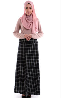 Harga JF Fashion Alfa Printed Skirt M375 (A)