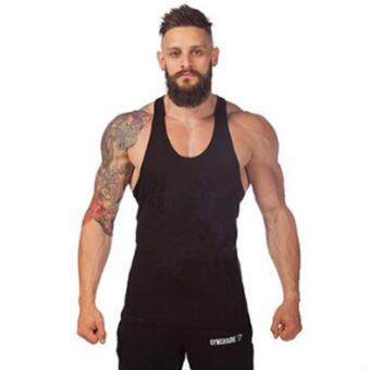 Harga 2017 Vest Bodybuilding Clothing Fitness Mens Undershirt Tank Tops Male Gyms Cotton Singlets Muscle Sleeveless T-shirts