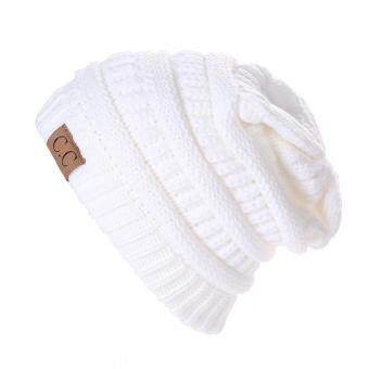Harga Winter Bubbe Knit Baggy Beanie Overize Hat ki ouchy Cap (White)