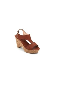 Harga Bata Women - Dayaa Wedge Sandals (Camel)