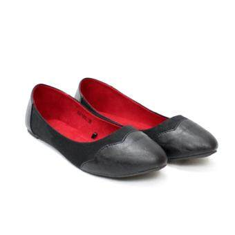 Harga Formal Shoes Lusoria Women Trendy shoes G2106L (Black/Red)(OVERSEAS)