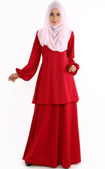 Harga JF Fashion Ana Blouse with skirt J353 (Red)