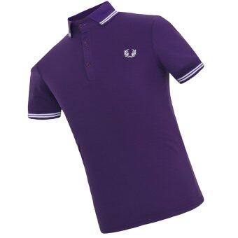 Harga New 2016 Men's Brand Polo Shirt For Men Designer Polos Shirts (Purple)