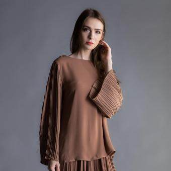 Harga MC Vogue Pleated Sleeve Brown Top