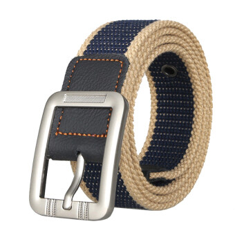 Harga Unisex Casual Canvas Belt Web Belt Woven Belt with Needle Buckle for Jeans 100cm 39inch