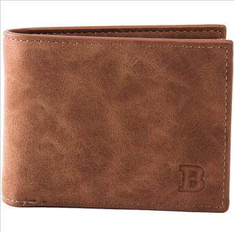 Harga Casual simple new men's purse, coin bag, wallet bag-Brown