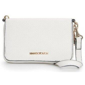 Harga MANGO Detachable Strap Pebbled Wallet (White)