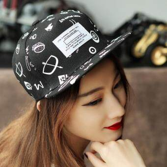 Harga Korean version of baseball and hip-hop hip-hop hip-hop hip-hop flat along the edge of the hat duck tongue visor