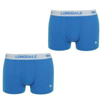 Harga Lonsdale Men Elasticated Waistband Underwear Trunks Pants Shorts 2 Pack Royal/Wh