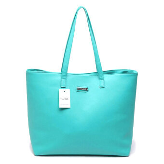 Harga Mango Leather Tote Bag (Turquoise)