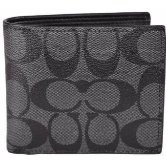 Harga Coach 75083-cqbk signature double billfold wallet