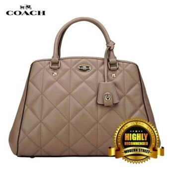 Harga Coach 36679 Small Margot Carryall in Quilted Leather (Apricot)