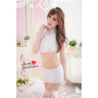 Harga Loveena Two-piece Cheong Sam Costume Sexy Lingerie L3028-W