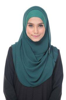 Harga Magical Lily Chiffon Instant Shawl - Emerald Green