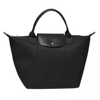 Harga Longchamp Planetes Short Handle Small (Black)