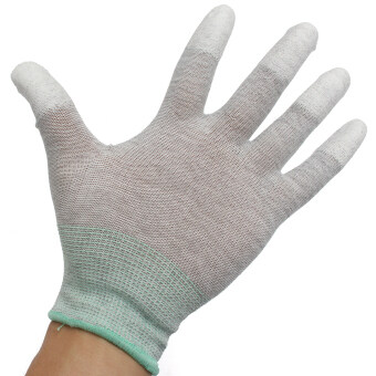 Harga Anti Static Antiskid Glove PC Computer ESD Electronic Working Labor Protection M