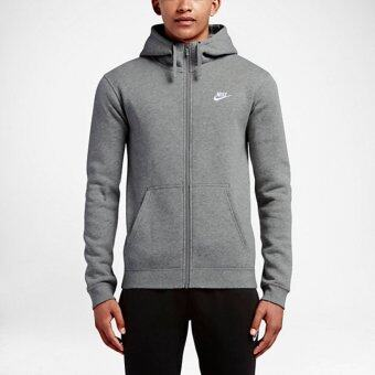 Harga NIKE SPORTSWEAR FULL-ZIP MEN'S HOODIE - GREY/WHITE