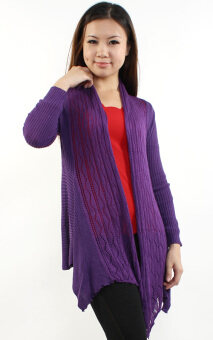 Harga JF Fashion Knitted Cardigan D062 (Purple)