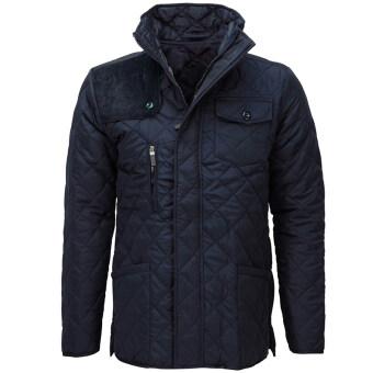 Harga Hequ Winter Criss-cross Coat Men Thin Parka Homme Casual Quilted Jacket Slim Fit Stand Collar High Quality Outerwear Men Navy