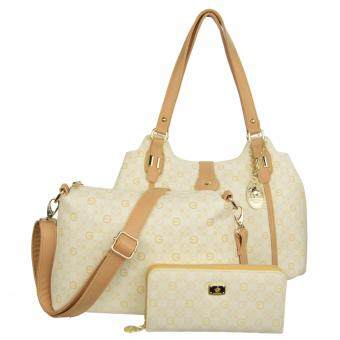 Harga 1 x 100% Original British Polo Hot Sale Value Set Handbag Khaki (PL51044-06)