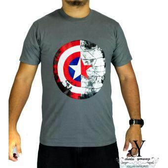Harga CY-D21008 SUPERHERO T.SHIRT MARVEL CAPTAIN AMERICA AVENGERS [GREY]