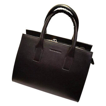 Harga Sokano Trendz PU Leather SKN320 Handbag (Black)