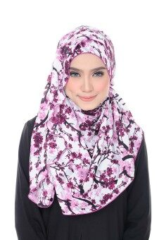 Harga Benang Hijau Ashley Premium Shawl - White Pink Sakura