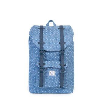 Harga Herschel Little America Mid (Limoges Crosshatch-White Polka Dot)