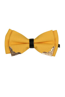 Harga Leather Bow Tie (Yellow)