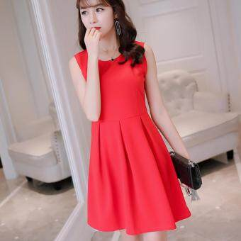 Harga Korean Style Midi Dress - C85 - 4735
