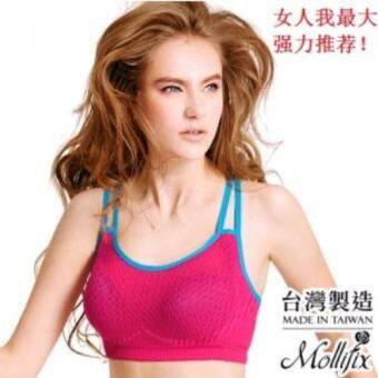 Harga Mollifix A Good Move Hit Color Motion Bra (Radio Peach)
