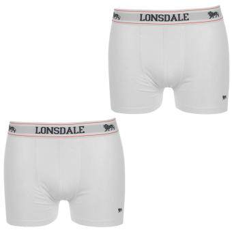 Harga Lonsdale Men Elasticated Waistband Underwear Trunks Pants Shorts 2 Pack White